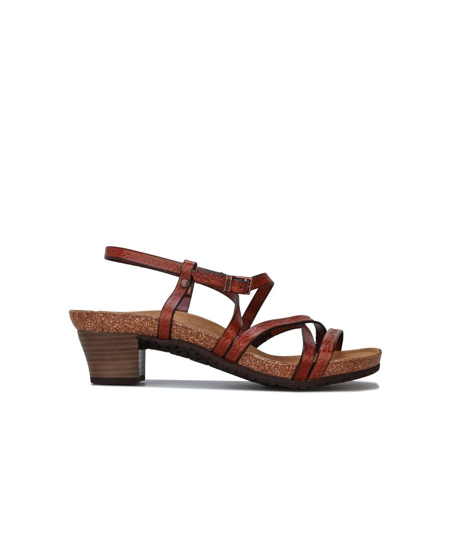 Image for Women's Papillio Bella Leather Sandals Narrow Width in Brown