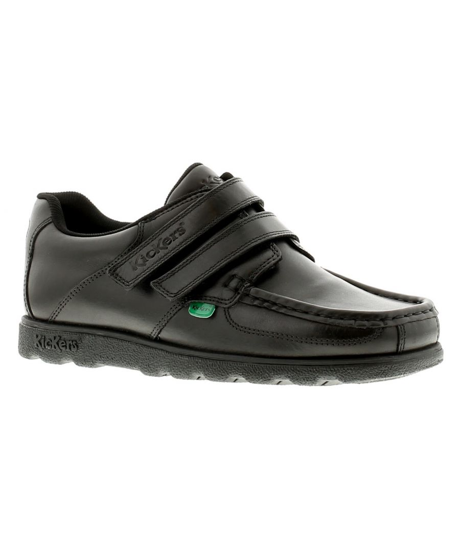Image for New Boys/Childrens Black Kickers With Twin Touch Fastening Straps