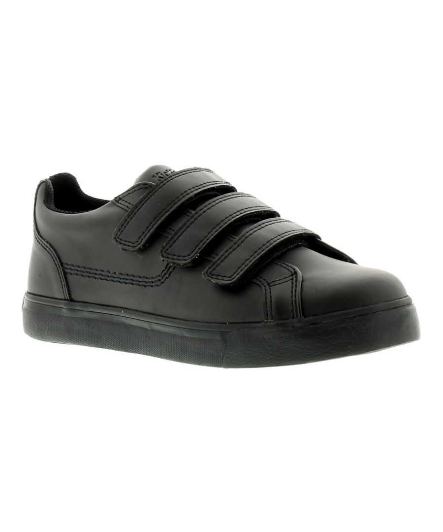 Image for New Older Boys/Childrens Black Kickers Tovni Touch Fasten Shoes