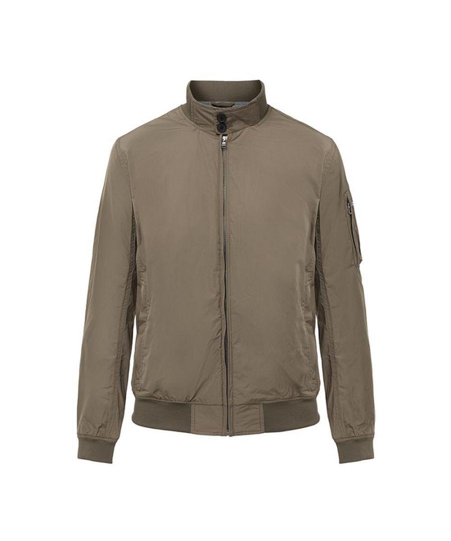 Image for Men's Hackett, Memory Blouson Jacket in Military Green