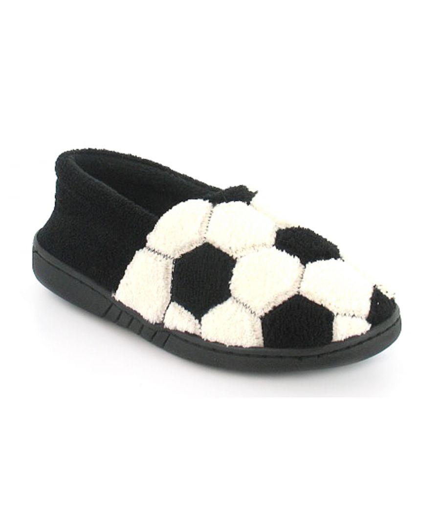 Image for New Boys/Childrens Black/White Full Novelty Design Slippers