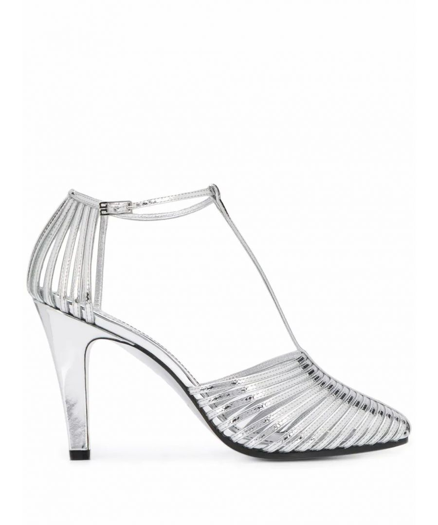 Image for GIVENCHY WOMEN'S BE3042E01B040 SILVER LEATHER HEELS