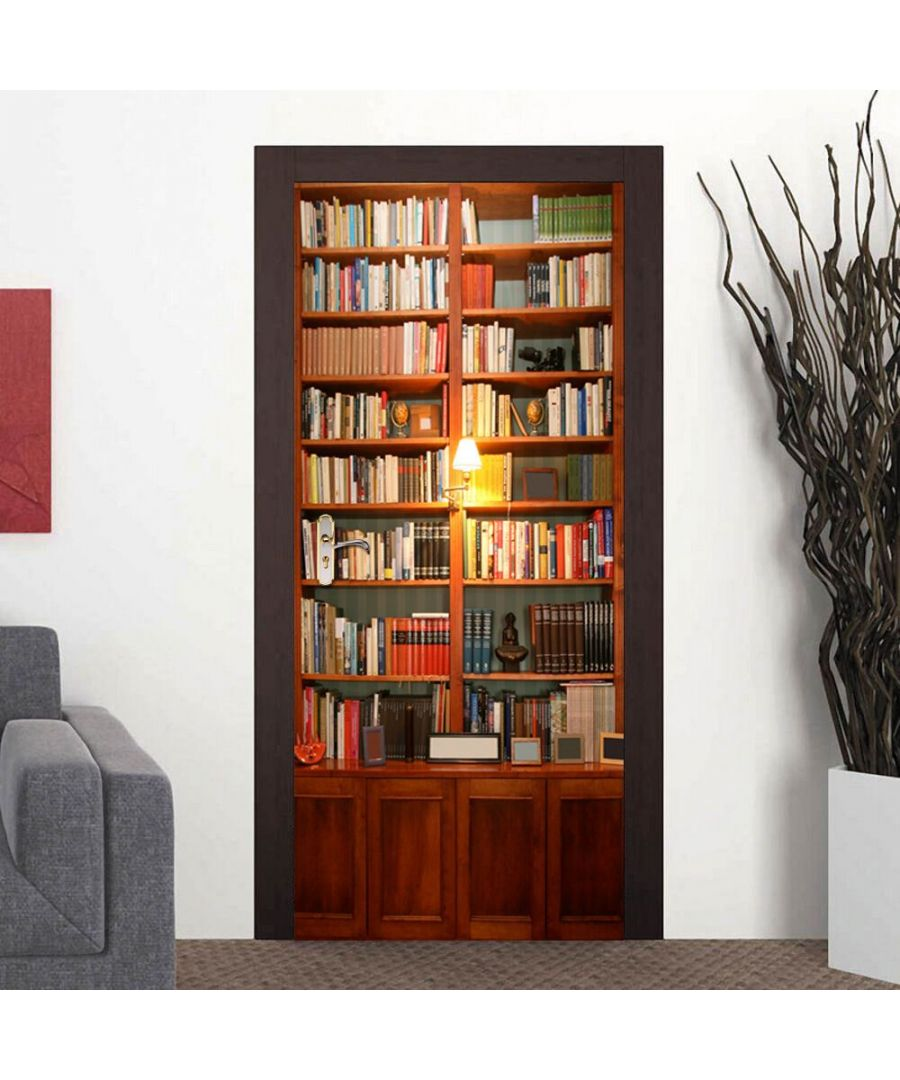 Image for UK Door Mural Bookcase Office Decor Home Decoration Self-Adhesive Stickers