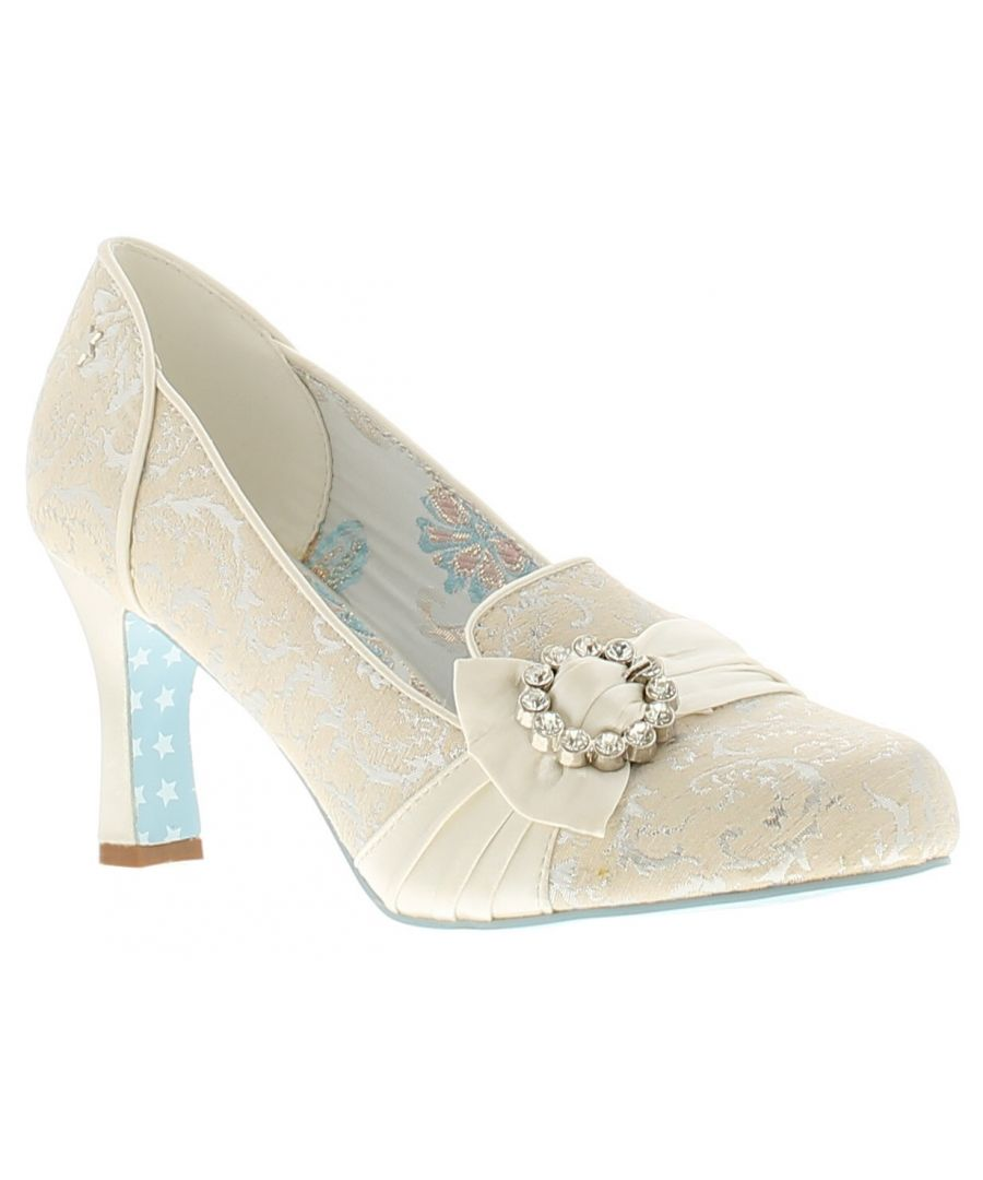 Image for Joe Browns Couture lovebird womens ladies occasion shoes white