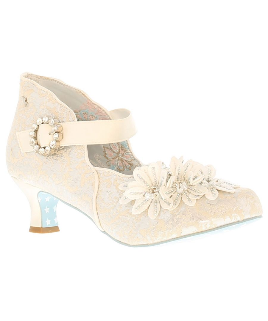 Image for Joe Browns Couture confetti womens ladies occasion shoes white