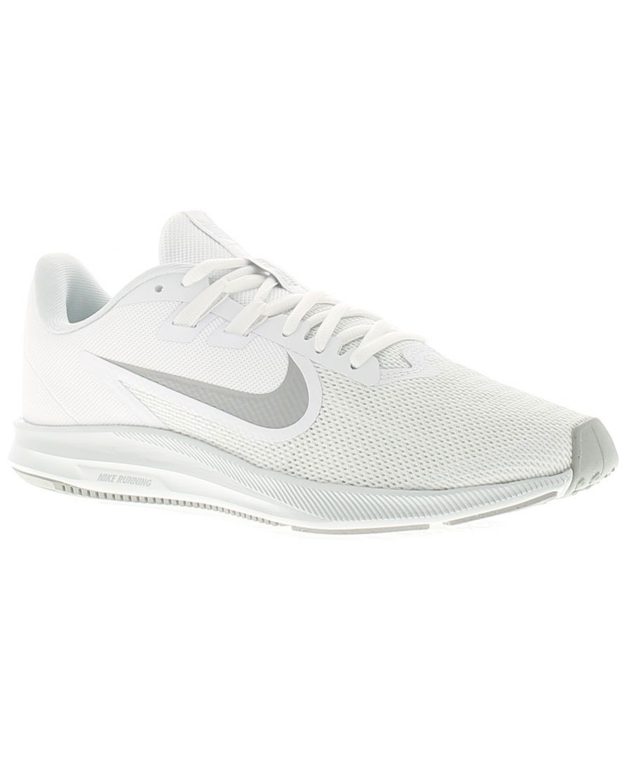 Image for Nike downshifter 9 womens ladies trainers white