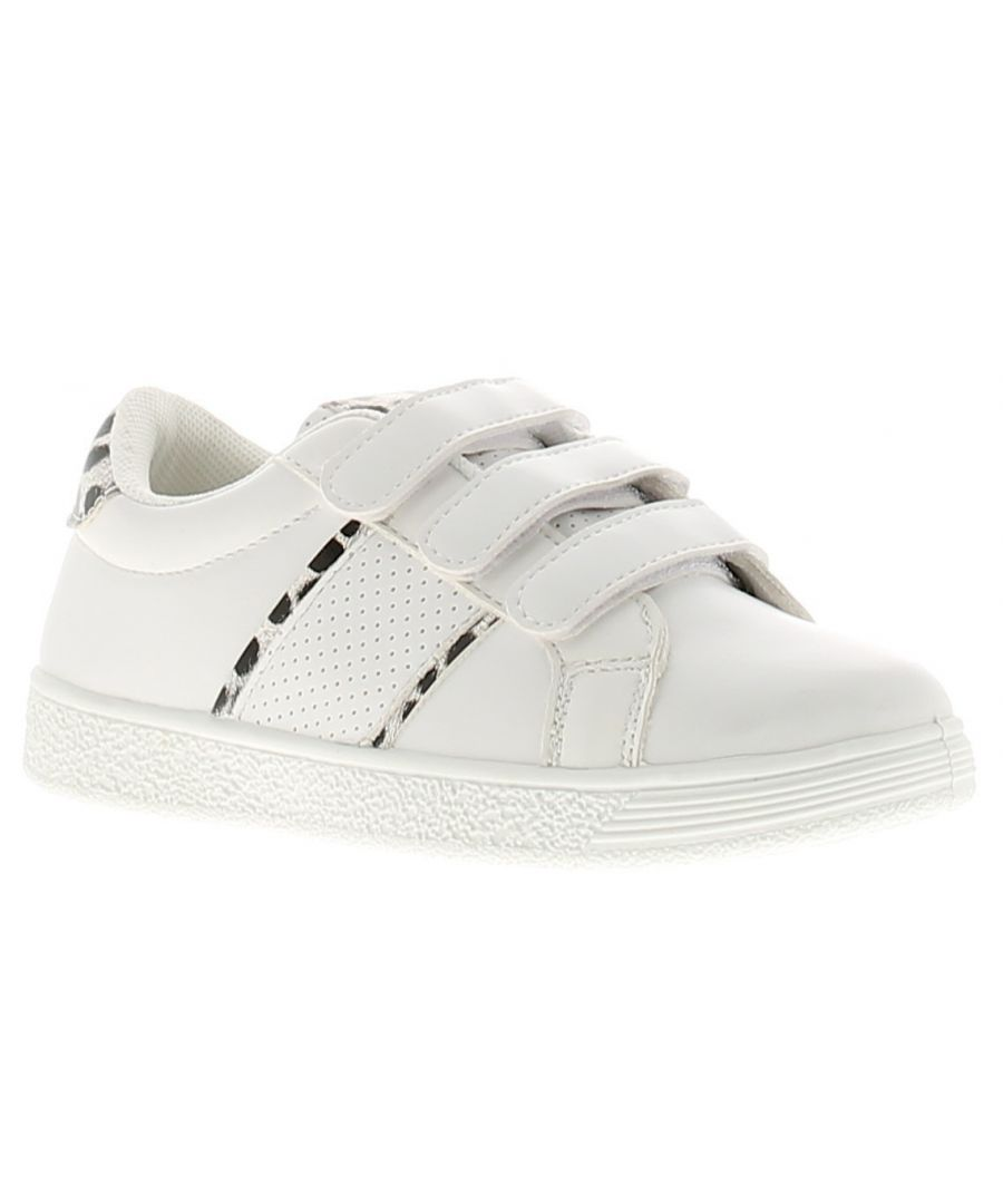 Image for Miss Riot puma girls kids trainers white