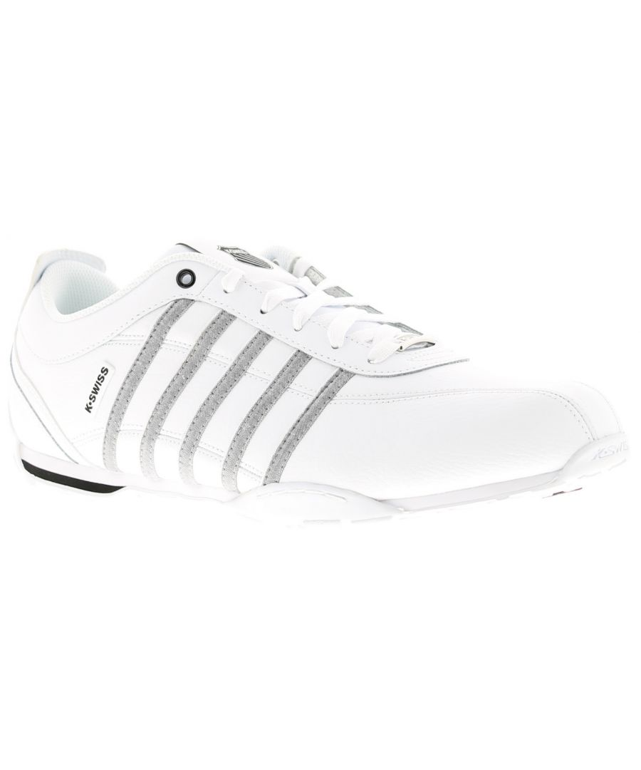 Image for Mens K-Swiss Arvee 15 Leather Upper Lace Up  Trainers  Cup Sole To Provide Comfort K-Swiss Logo To T