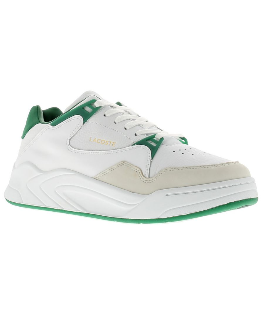Image for Lacoste court slam leather mens trainers white