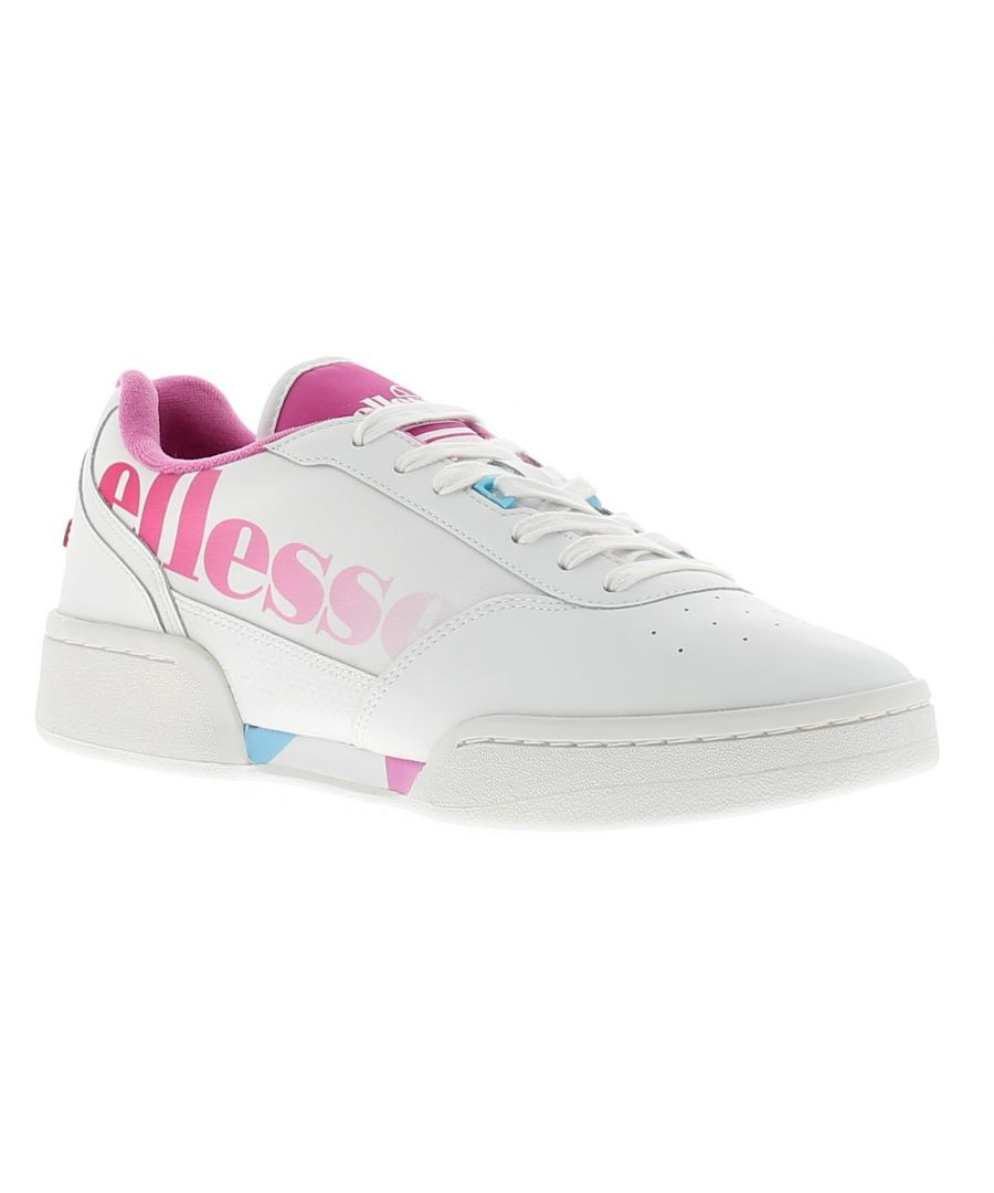 Image for Ladies Ellesse Piacentino Perforated Leather Upper Trainers With Lace Up Fastening Featuring The Ell