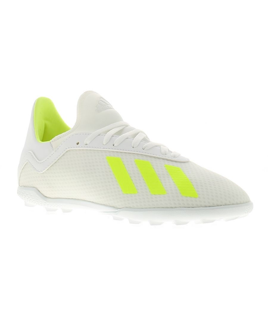 Image for Adidas Performance x18.3 tf j boys trainers white