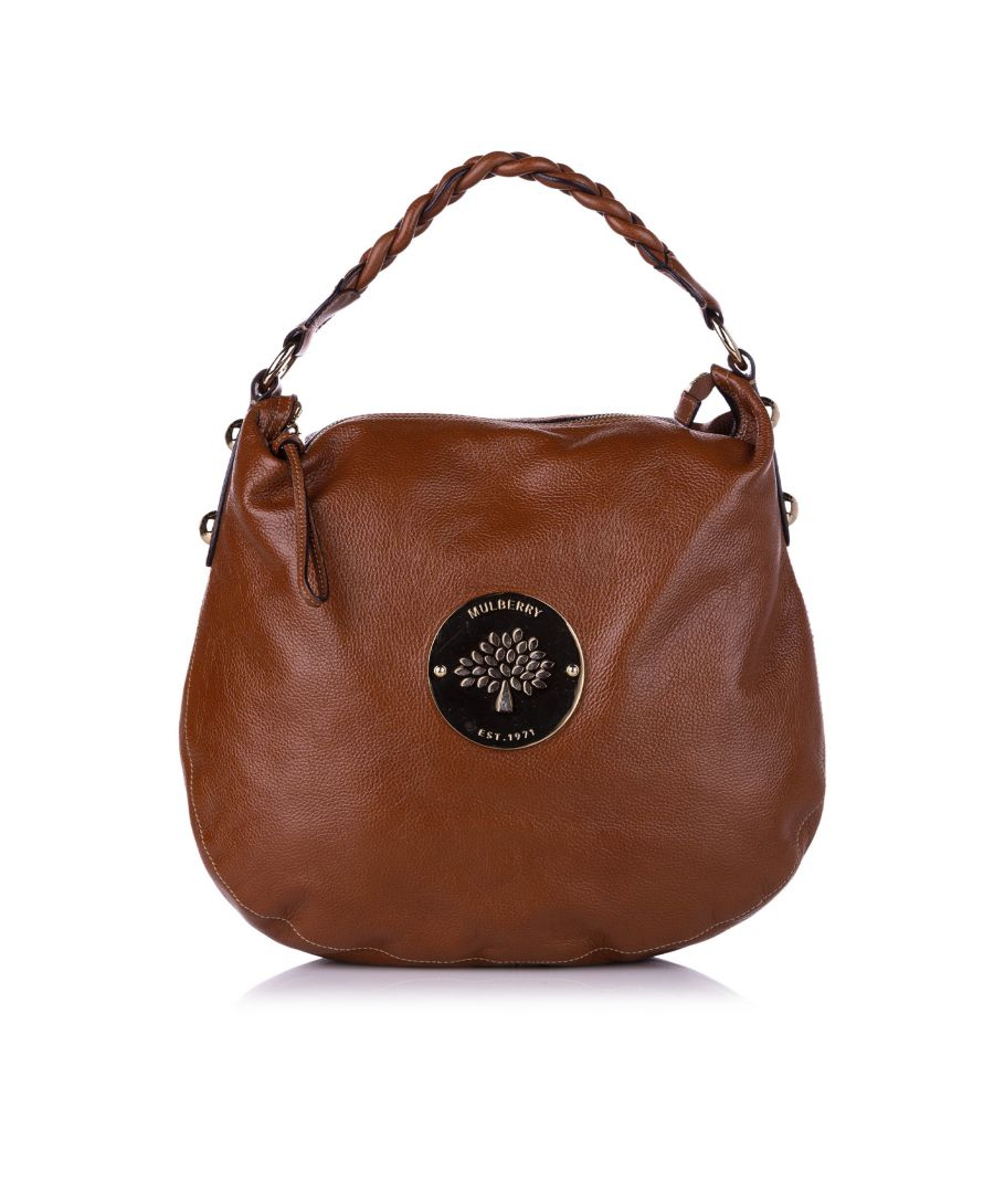 Image for Vintage Mulberry Medium Daria Leather Hobo Bag Brown