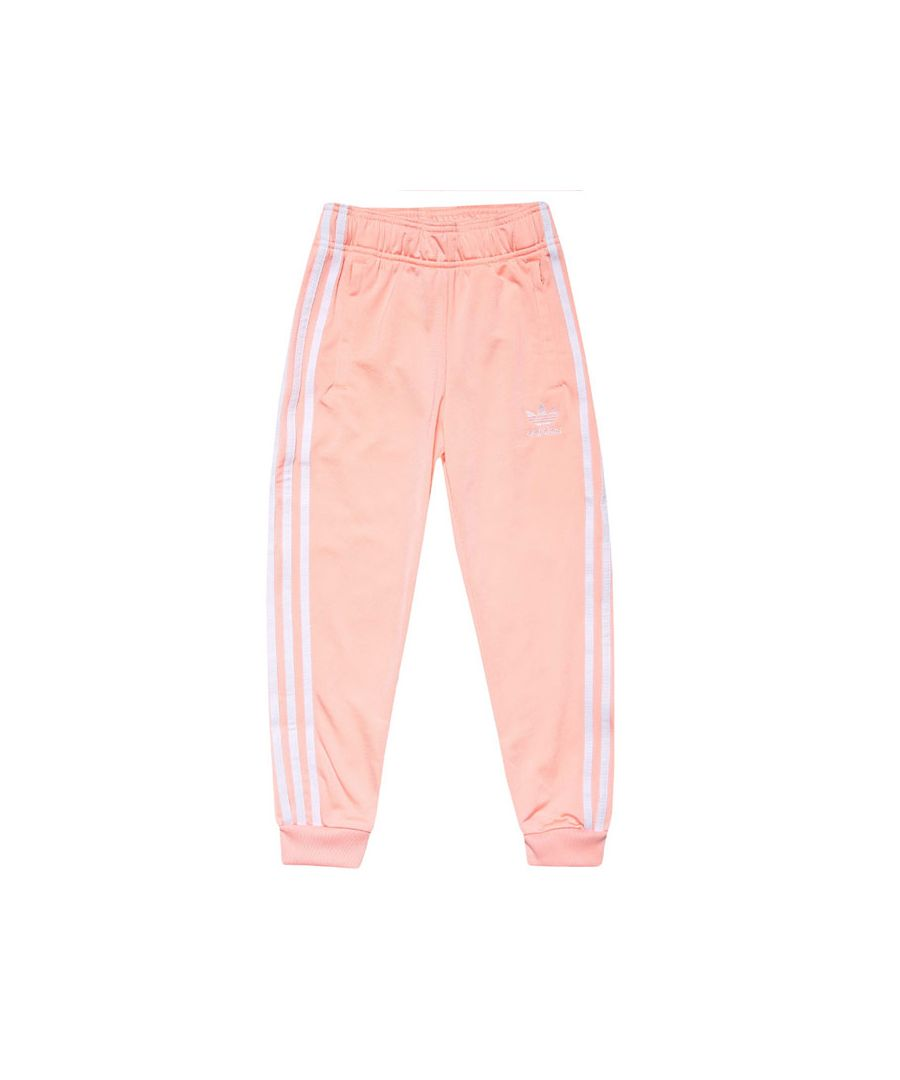 Image for Girls' adidas Originals Junior SST Track Pants Coral 11-12In Coral
