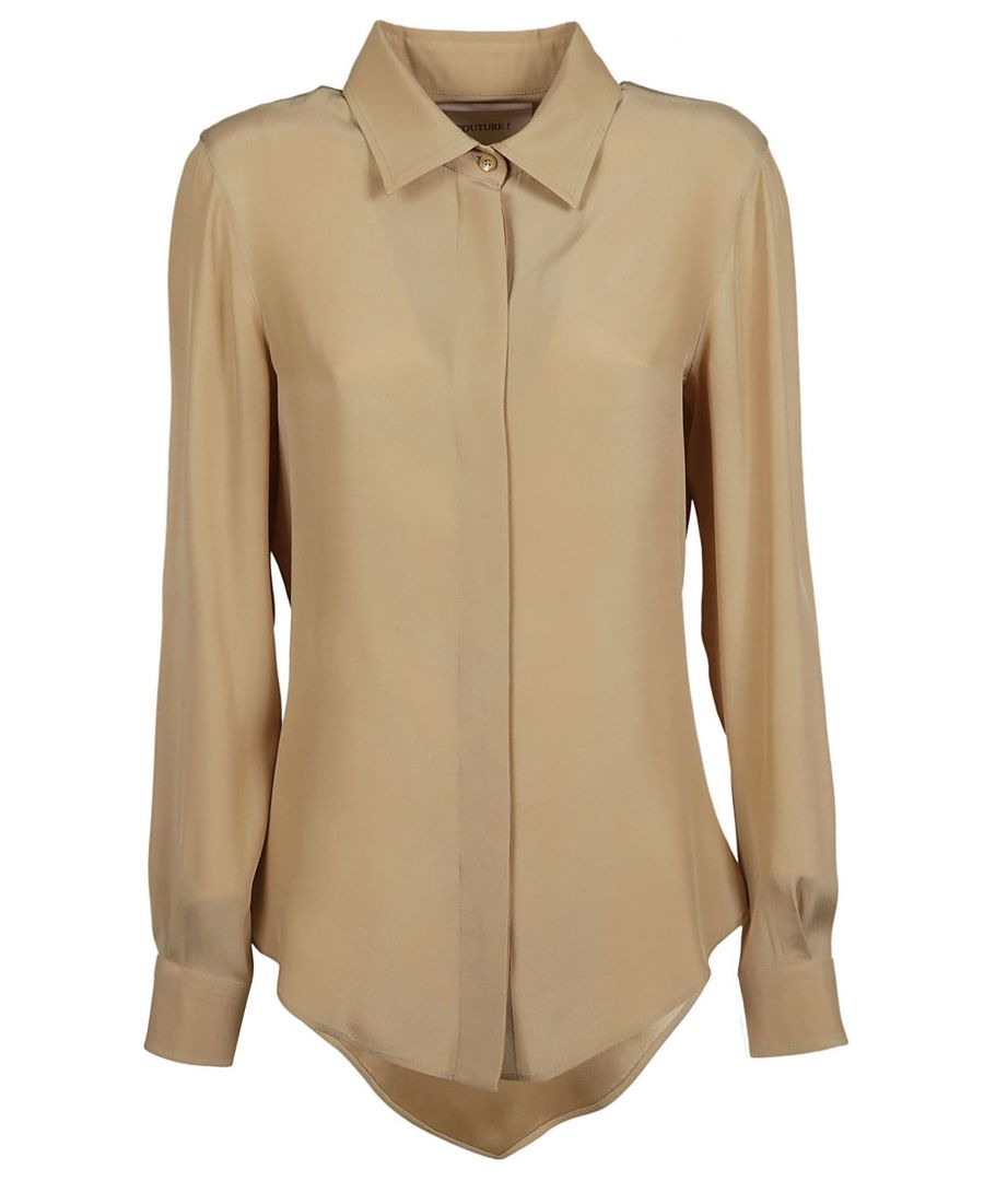 Image for MOSCHINO WOMEN'S A020505370081 BEIGE ACETATE SHIRT