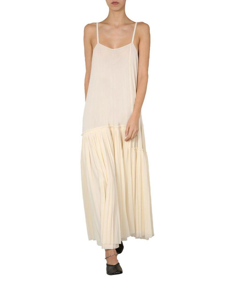 Image for JIL SANDER WOMEN'S JSCQ715014WQ467808103 WHITE POLYAMIDE DRESS