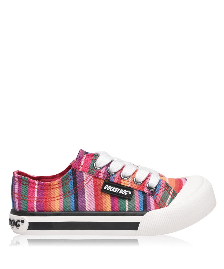 Image for Rocket Dog Girls Jazzin Canvas Trainers Sneakers Sports Shoes Low Ankle Stitched