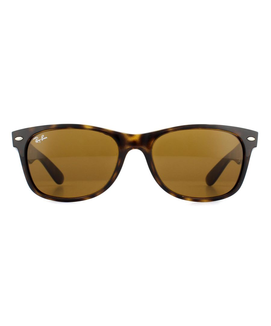 Image for Ray-Ban Sunglasses New Wayfarer 2132 710 Light Havana Brown 55mm