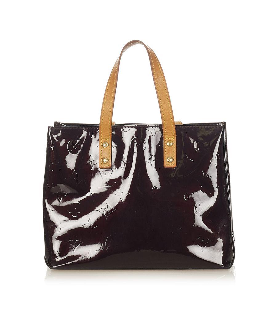 Image for Vintage Louis Vuitton Vernis Reade PM Purple
