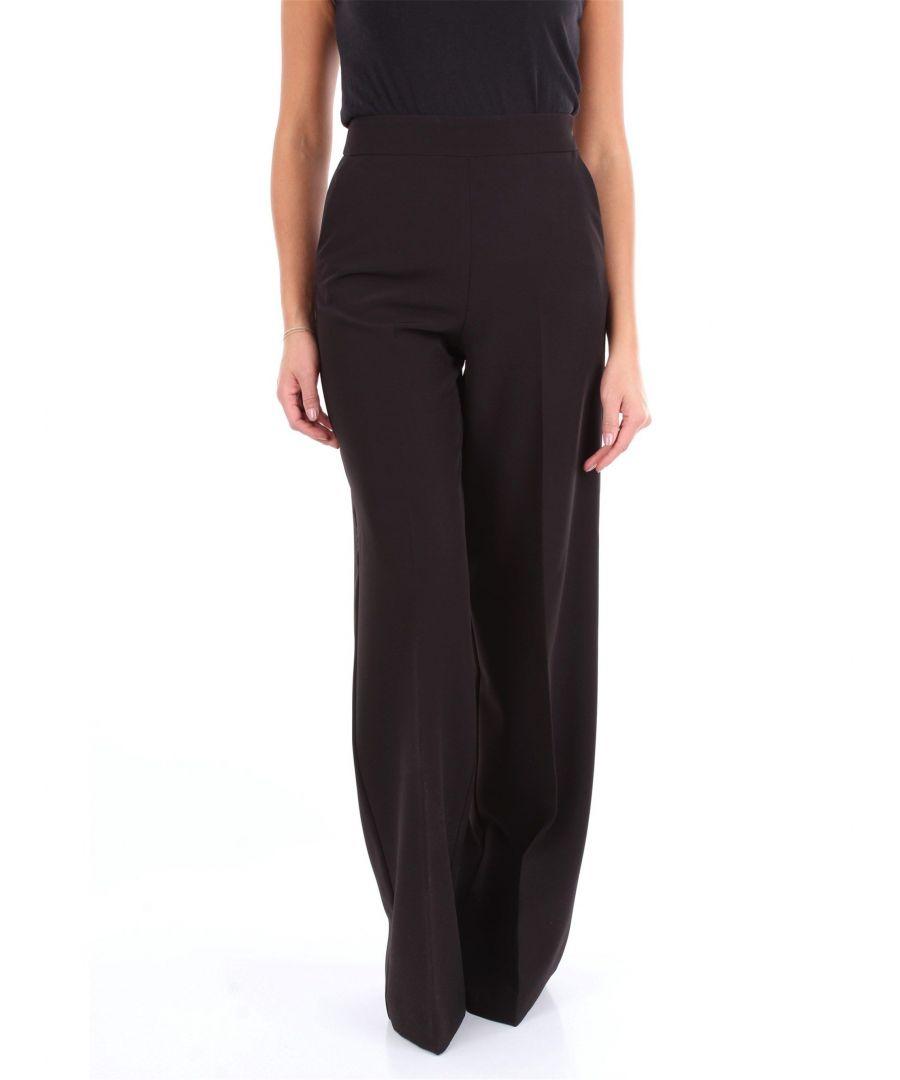 Image for BLUMARINE WOMEN'S 4358NERO BLACK VISCOSE PANTS