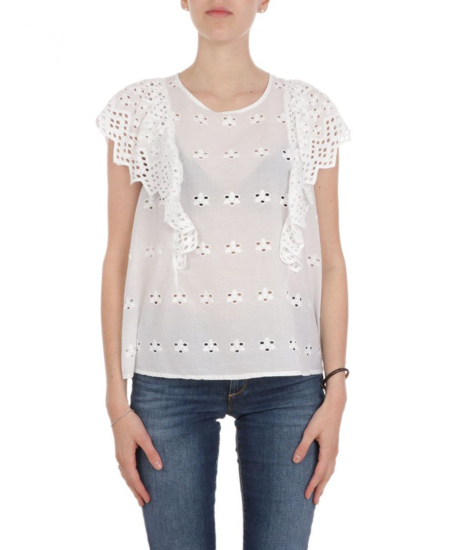 Image for ANIYE BY WOMEN'S 18516900001 WHITE COTTON T-SHIRT