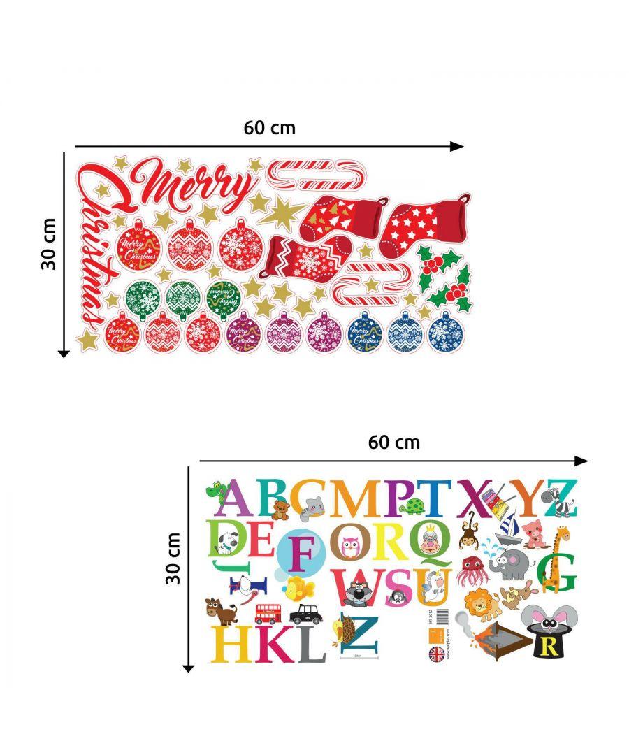 Image for COM- WS3012 - Walplus Alphabet + WS3322 - Merry Christmas