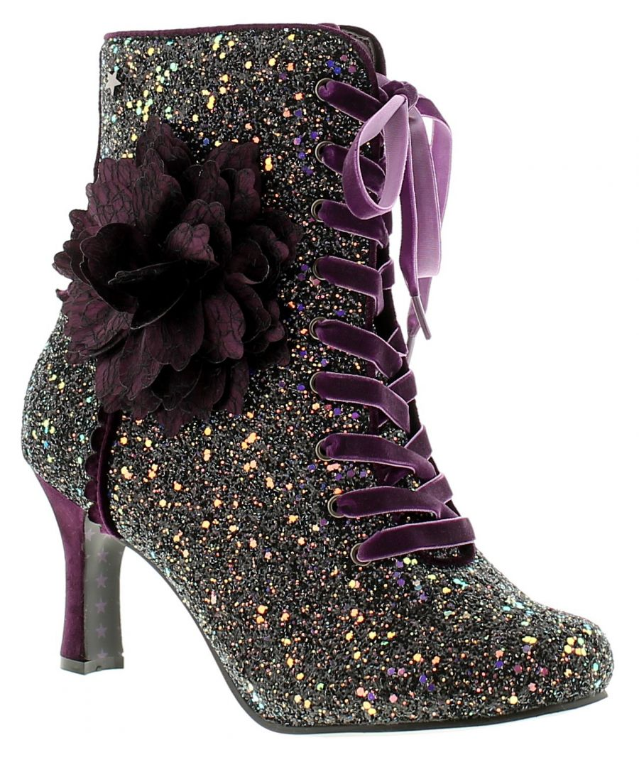 Image for Joe Browns Couture rebel couture boot womens ladies ankle boots burgundy