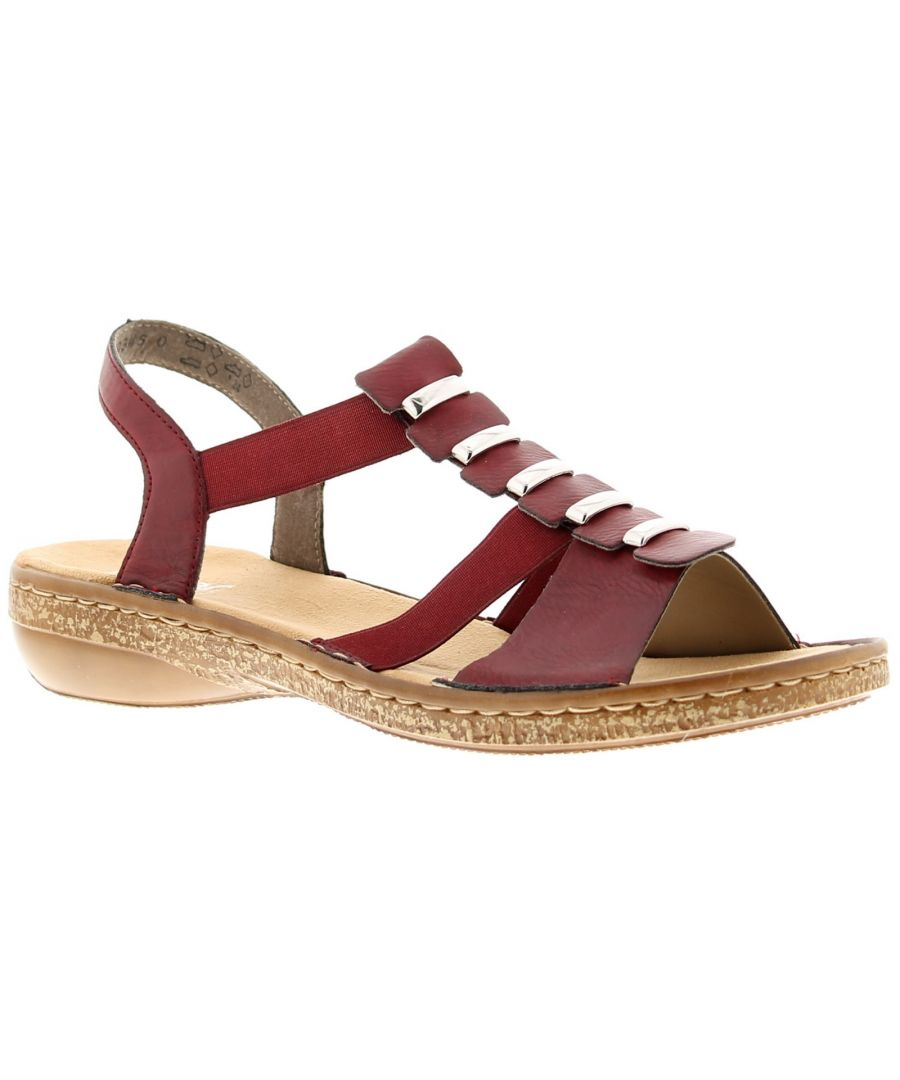 Image for Ladies Synthetic And Elastic Upper Sandals Textile Lined Anti Stress Footbed Flexible, Shock Absorbi