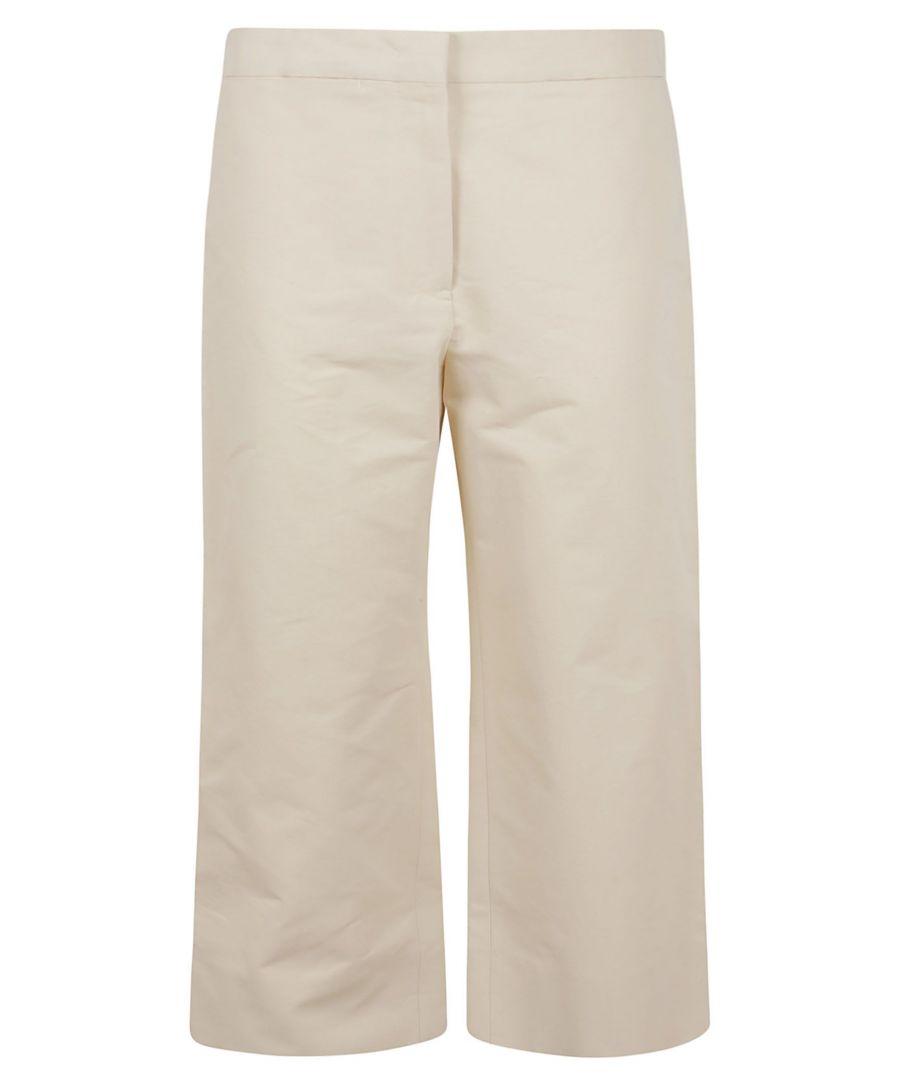 Image for JIL SANDER WOMEN'S JSPQ300300WQ241900275 BEIGE COTTON PANTS