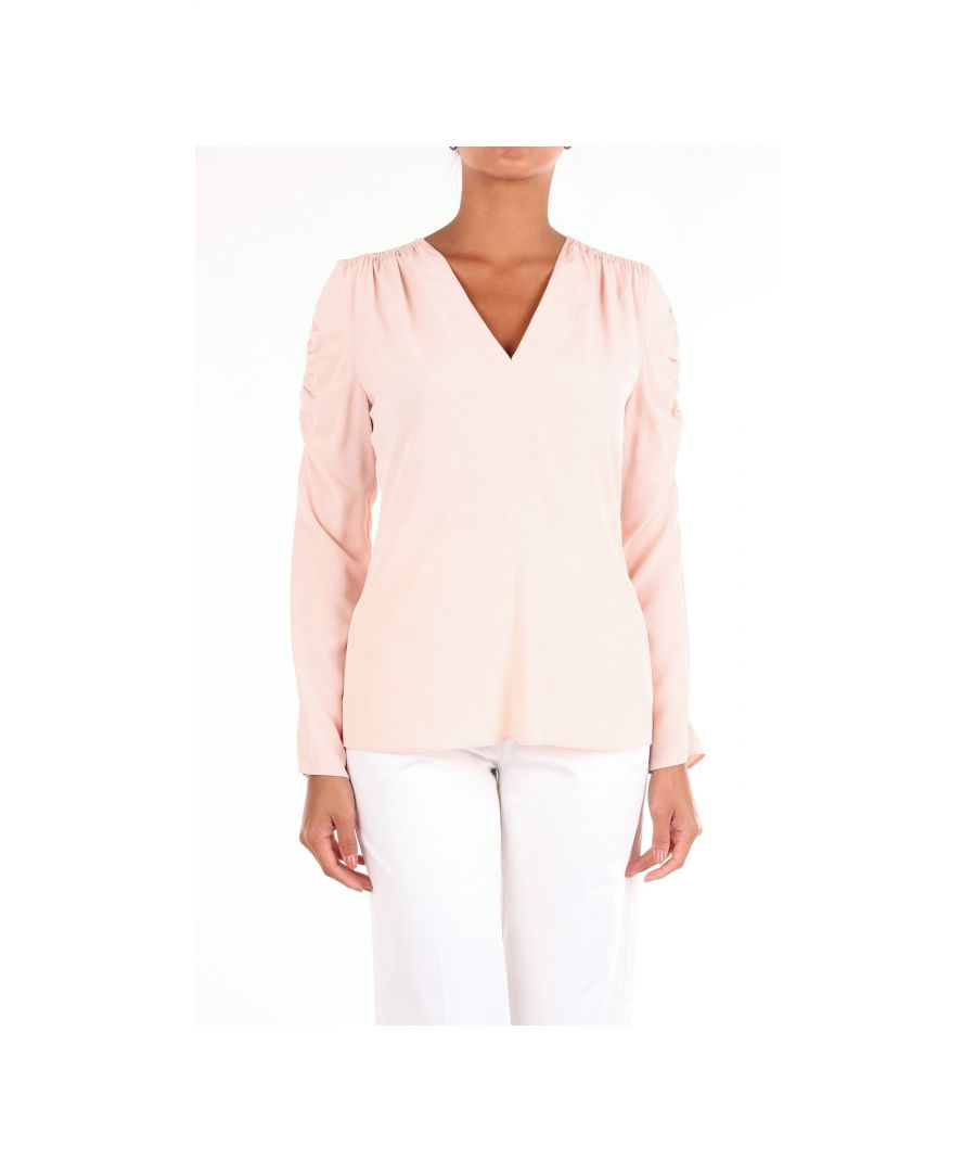 Image for JUCCA WOMEN'S J2912000ROSA PINK SILK BLOUSE