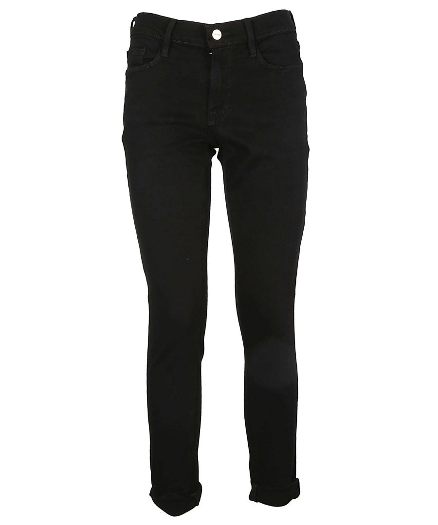 Image for FRAME WOMEN'S LGJ711 BLACK COTTON JEANS