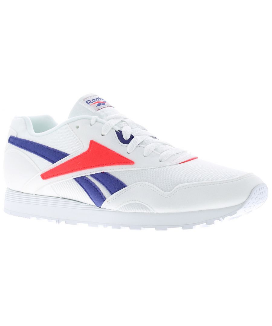 Image for Mens Breathable Textile Upper Trainers By Reebok Featuring Suede Overlay Detailing Eva Midsole Rubbe