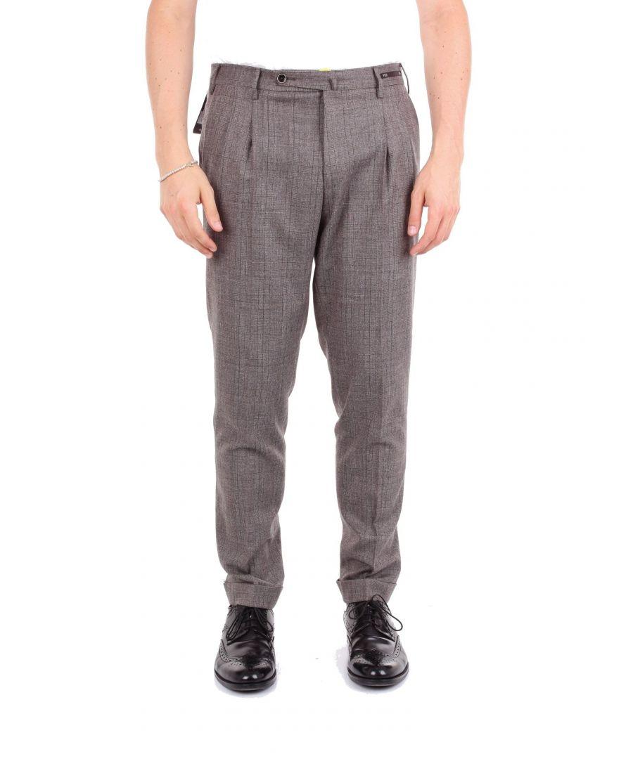 Image for PT01 MEN'S CM03HF22ZS0HE1GREY GREY WOOL PANTS