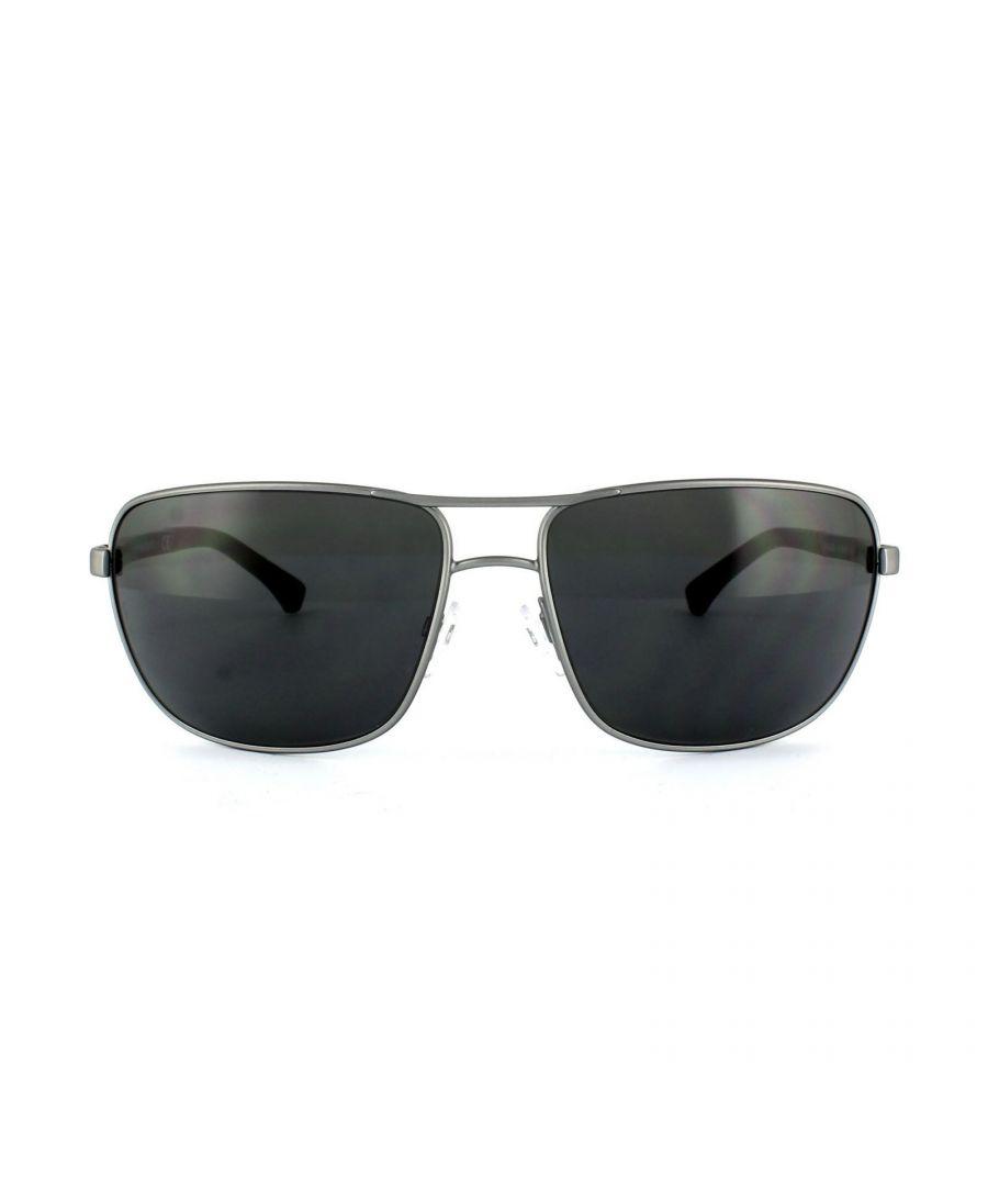 Image for Emporio Armani Sunglasses 2033 3130/87 Ruthenium Rubber Grey