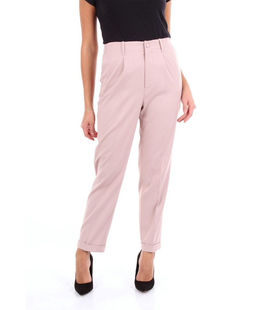 Image for BLUMARINE WOMEN'S 4360ROSAANTICO PINK COTTON PANTS