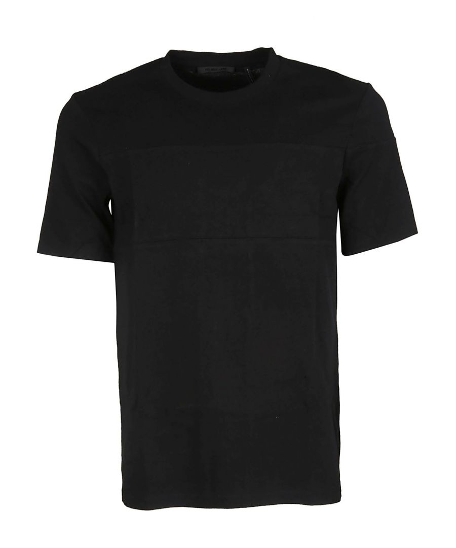 Image for HELMUT LANG MEN'S J02HM510001 BLACK COTTON T-SHIRT