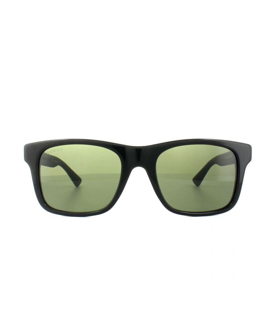 Image for Gucci Sunglasses 0008S 001 Black Grey Green