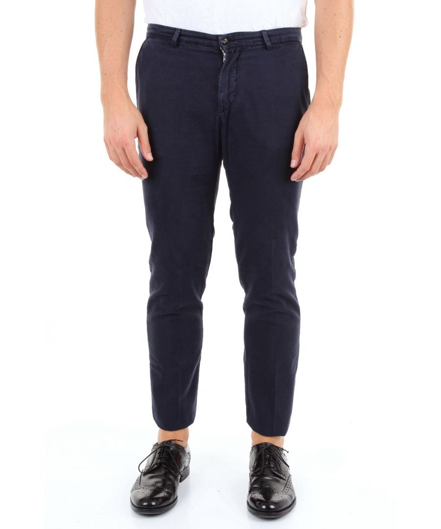 Image for BRIGLIA 1949 MEN'S BG0439577BLU BLUE COTTON PANTS