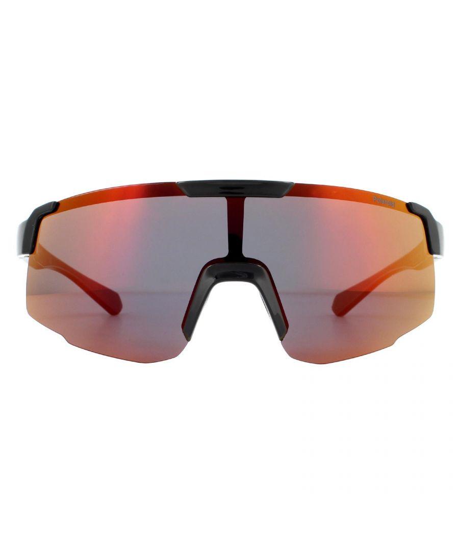 Image for Polaroid Sport Sunglasses PLD 7035/S 807/OZ Black Red Mirror Polarized