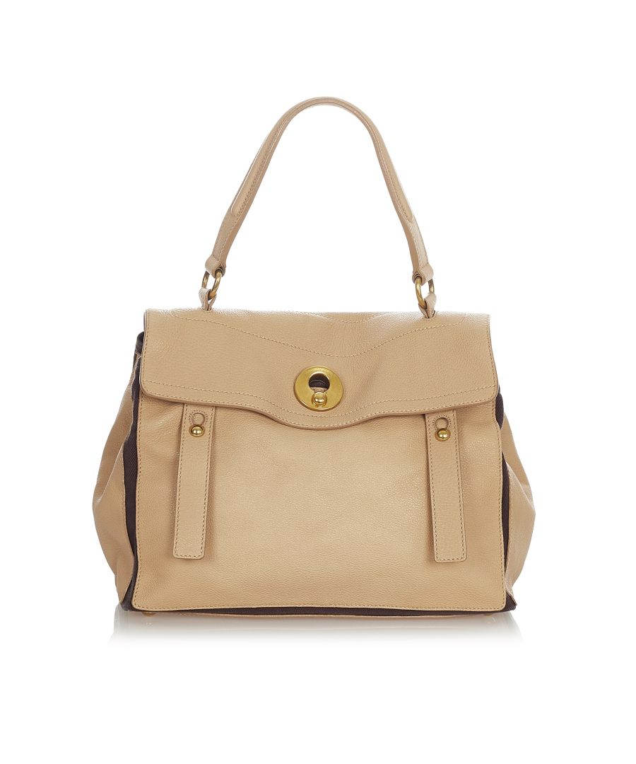 Image for Vintage YSL Muse Two Leather Satchel Brown