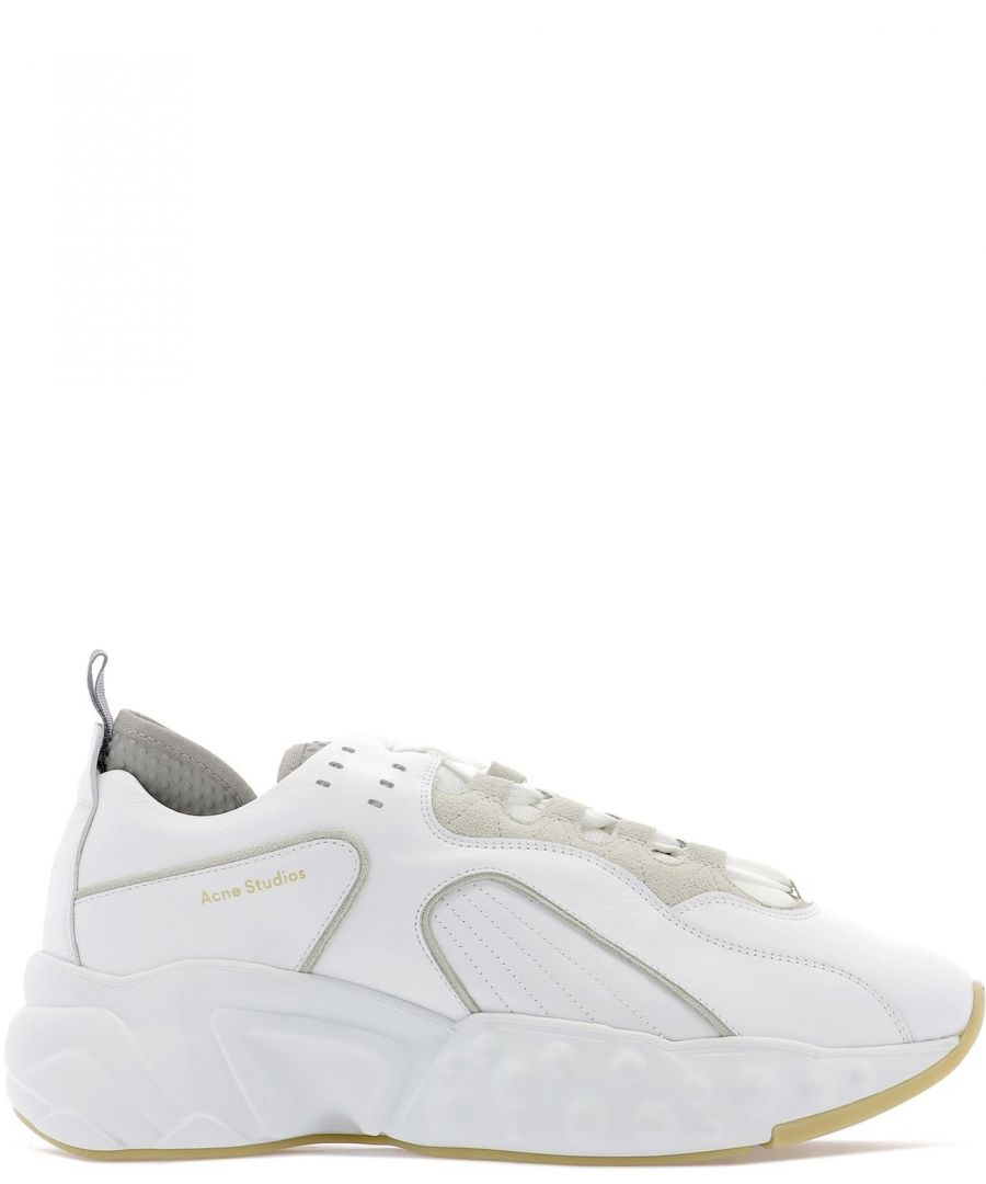 Image for ACNE STUDIOS MEN'S BD0002100 WHITE LEATHER SNEAKERS