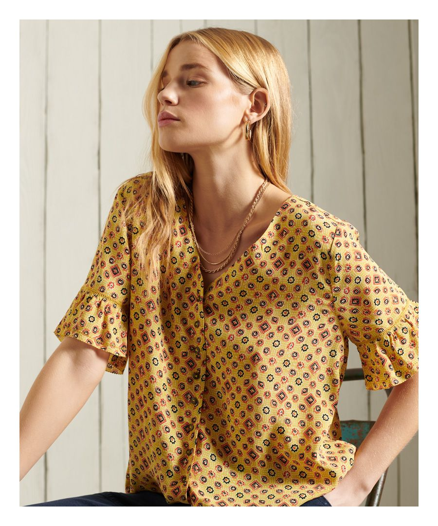 Image for Superdry Short Sleeve Lace Top