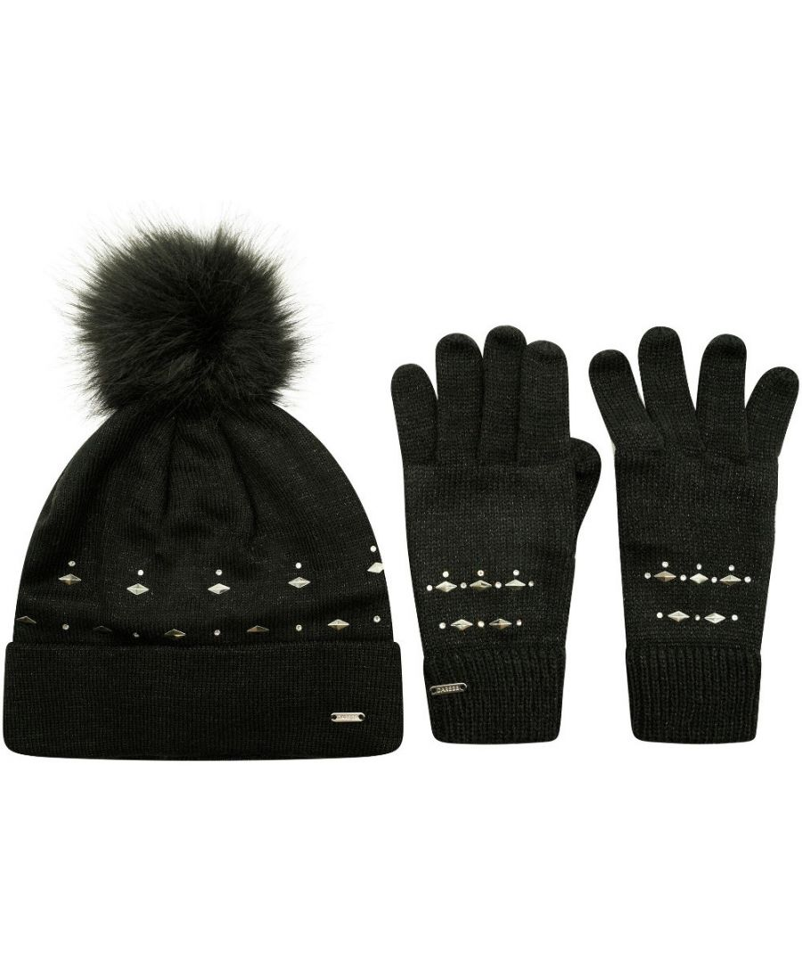 Image for Dare 2b Womens Bejewel II Set Knitted Bobble Hat and Gloves