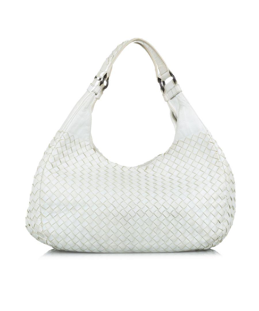 Image for Vintage Bottega Veneta Intrecciato Campana Hobo Bag White