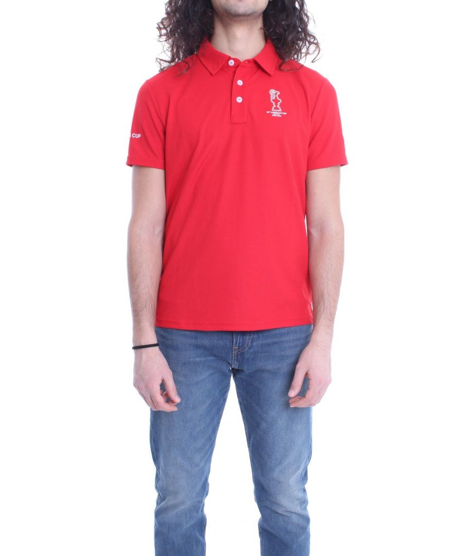 Image for NORTH SAILS MEN'S 4520010230 RED COTTON POLO SHIRT