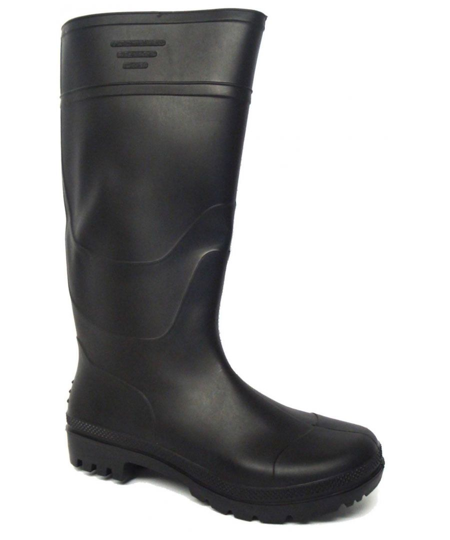 Image for New Mens/Gents Black Full Length Rubber Waterproof Wellington Boots.