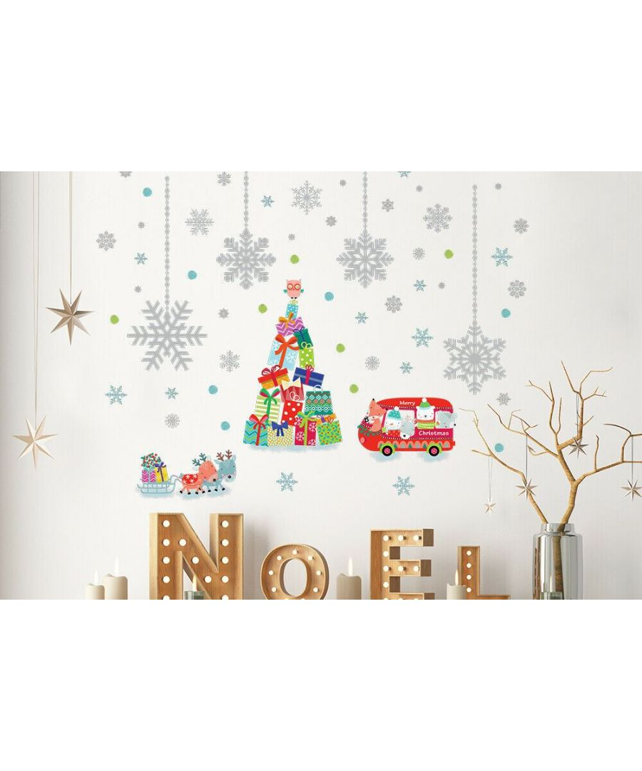 Image for C2W0013 - Reindeer Christmas Tree and Silver Snowflakes - WS4301 + WS5301