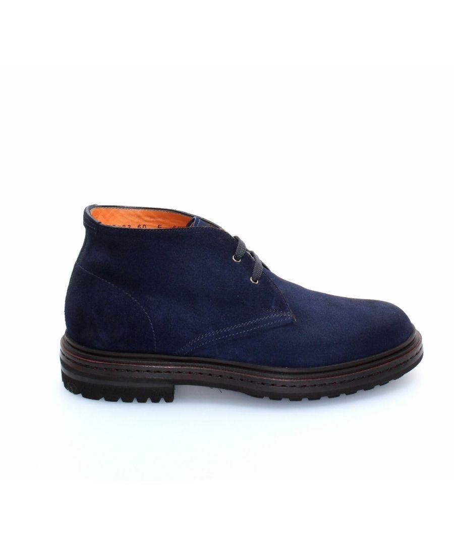 Image for SANTONI MEN'S MGMI16283JL9EPMSU60 BLUE SUEDE ANKLE BOOTS