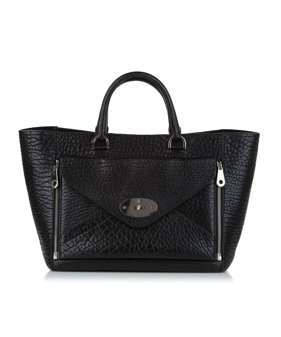 Image for Vintage Mulberry Willow Leather Hand Bag Black