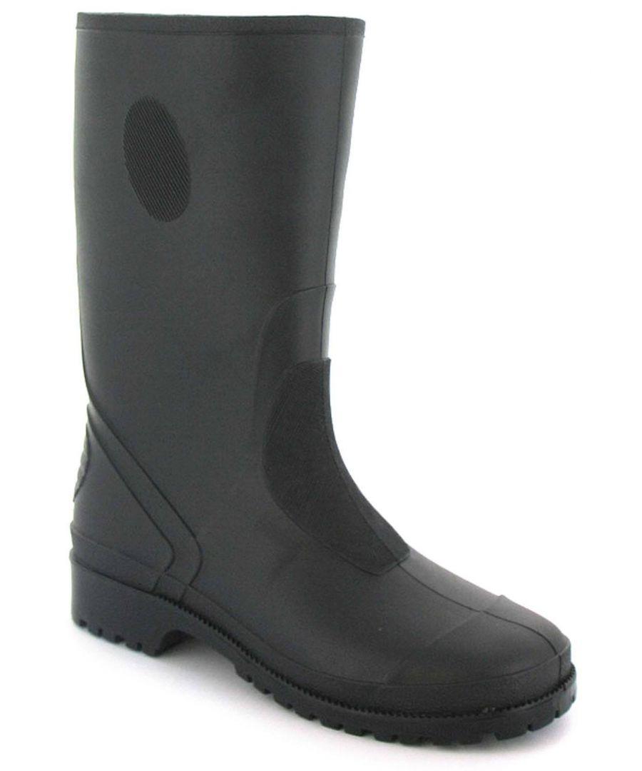 Image for New Childrens/Kids Black Long Leg Wellington Boots