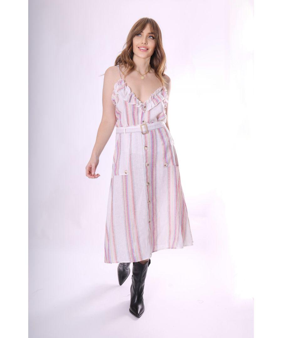 Image for A-Line Broken Romance Midi Skirt in White